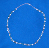 Apatite and Pearl Sterling Silver neclklace